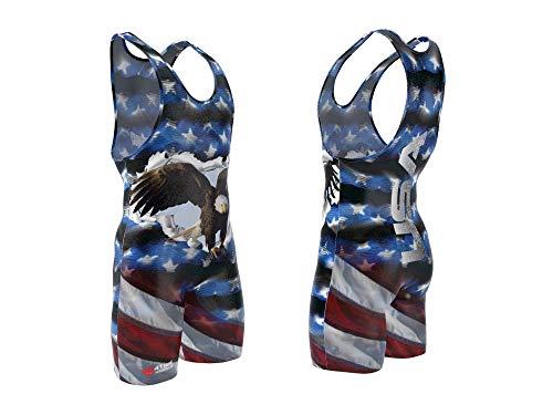 USA Eagle wrestling singlet size M