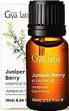 Gya Labs Aceite Esencial de Enebro para Piel - Aceite de Baya de Enebro Puro para la Dolores Musculares y Sueño - 100 Natural Aceites Esenciales para Difusor Aromaterapia - 10ml