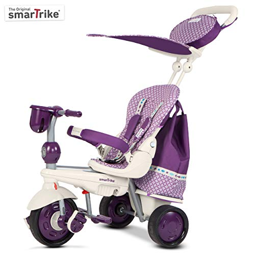 smarTrike 680–0400–Splash Triciclo, Bianco/Lilla