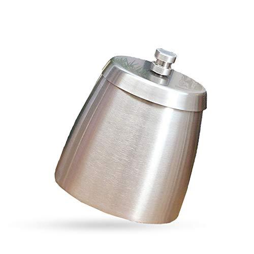BANGSUN 1 x Edelstahl-Aschenbecher mit Deckel, für den Außenbereich, winddicht, exquisite Handwerkskunst.
