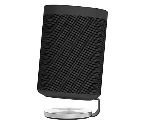 Nova Desk Stand for Sonos One (Gen1, Gen2), One SL and Play:1 - Premium UK Design & Manufacturing Complements your Speakers (SINGLE, BLACK)