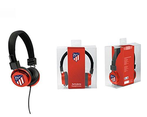 Seva Import AT Madrid Auricular Casco, Rojo, Talla Única