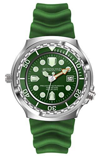 Riedenschild Army Taucher Herrenuhr Grün 1000M Citizen 1S13 Werk Helium Ventil Datumsanzeige