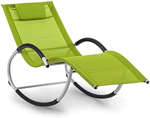 SACKDERTY Silla reclinable Silla de patio reclinable Silla de malla de gravedad ergonómica