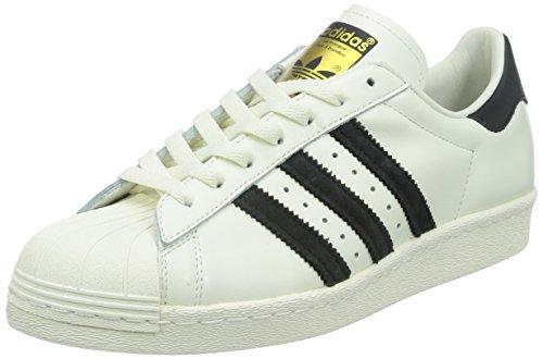 adidas Originals Superstar 80s Deluxe, Scarpe da Ginnastica Uomo, Bianco Vintage White S15 St Core Black off White, 48 2/3 EU