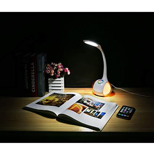 Platinet Lámpara de mesa de 7 W + luz nocturna blanca regulable, 7 W, cambio de color, flexible, PDL20   lámpara de noche   lámpara de escritorio