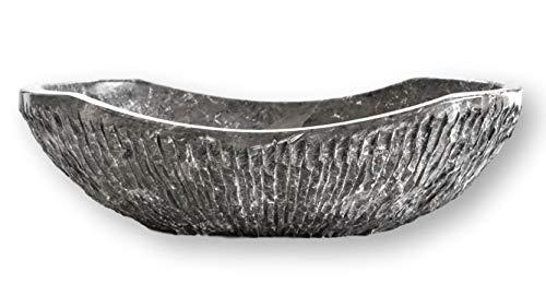 chiseled marble vessel sink