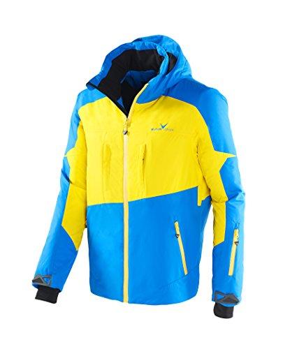 Black Crevice Herren Ski- und Snowboardjacke, BCR251004, mehrfarbig (blau/gelb), Gr. 50