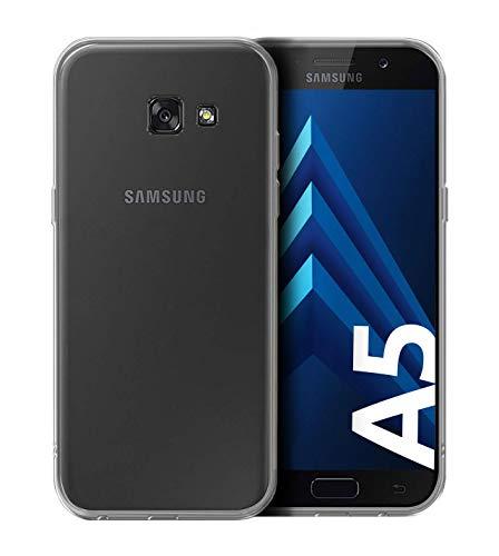 Funda resistentes Slim-Case para Samsung Galaxy A5-2017 [smart engineered] - Carcasa protectora de silicona - Transparente, Resistente a los arañazos