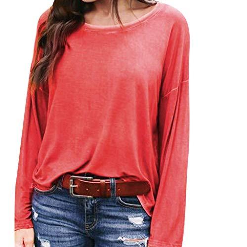 Damen Bekleidung Fledermaus-Shirt Pullover Top Freizeit Lange Ärmel T-Shirt Rundhalsausschnitt Lose