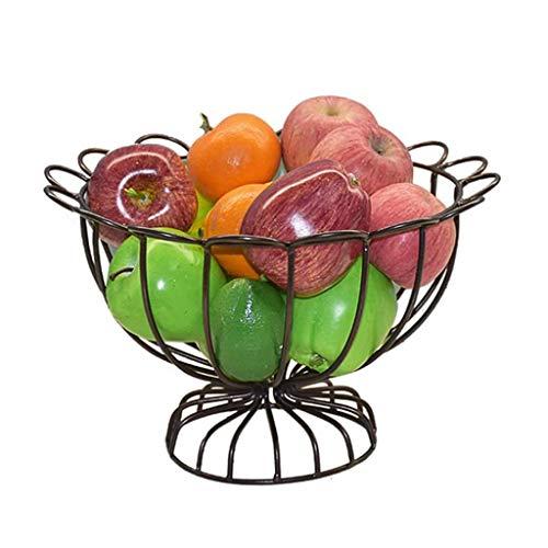 WYJBD Schmiedeeisen Obstschale, Wohnzimmer Kreative Obst Süßigkeit Kuchen Korb Tray Rack-Schmiedeeisen Linear Käseplatte Dish