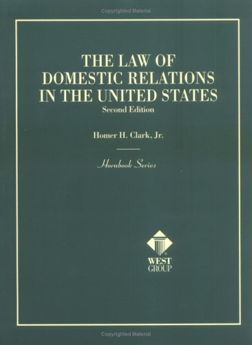 The Law of Domestic Relations in the United States (Hornbook)