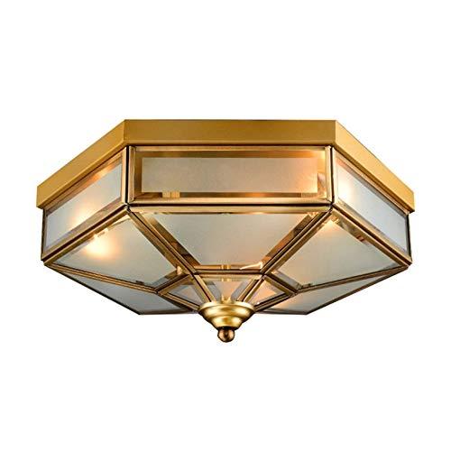 AERVEAL Candelabro de 3 Luces E27 Lámpara de Enchufe Lámpara de Techo Nórdica Acabado de Latón Colgante de Techo de Mediados de Siglo Iluminación Dorada Accesorio de Forma Geométrica con Pantalla de