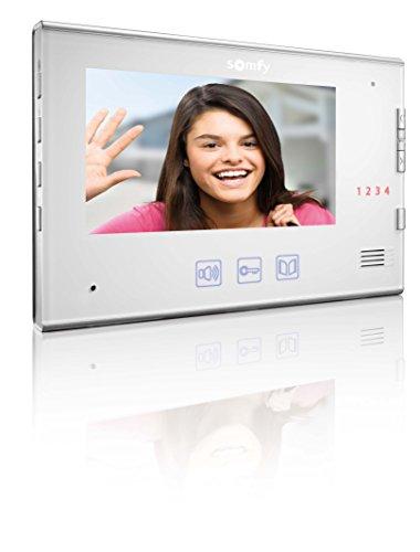 Somfy 2401251 - Innenstation für türsprechanlage mit Kamera V400, weiß