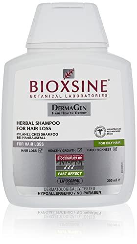 Shampoo für fettiges Haar - gegen Haarausfall bei Frau und Mann | mit pflanzlichem Haarwaschmittel das Haarwuchs beschleunigen | schnelles Haar-wachstum | Haarwuchs-mittel 300 ml | von Bioxsine