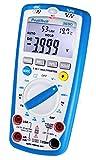 PeakTech 3690 - Multímetro Digital 5 en 1, Medidor de Lux, Medidor de Nivel de Sonido, Medidor de Humedad, Voltímetro, Termómetro, Portátil, Probador de Continuidad, 4000 Cuentas - 600 V