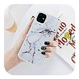 人気モデルのiPhone 11ケースゴールド箔大理石石電話ケースiPhone 7 8プラス6 6 s XR XS 11プロマックスXカラフルなソフトTPUシェル-8500-For iPhone X