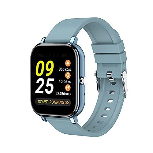 LVYE1 MRMF Pulsera Inteligente Llamada Bluetooth Ritmo Cardiaco Presión Sanguínea Monitor Pantalla A Color Movimiento Reloj Inteligente,Azul