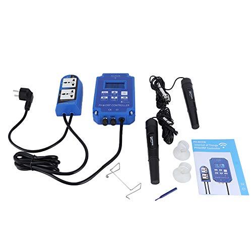 Testeur de qualité de l'eau, contrôleur de compteur PH-803W WIFI ORP/PH Moniteur de qualité de l'eau en ligne pour aquarium, plantes hydroponiques,...