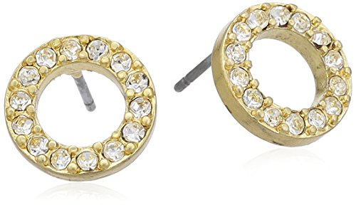Pilgrim Jewelry Damen-Ohrstecker aus der Serie Classic vergoldet wei 1.0 cm 611312013