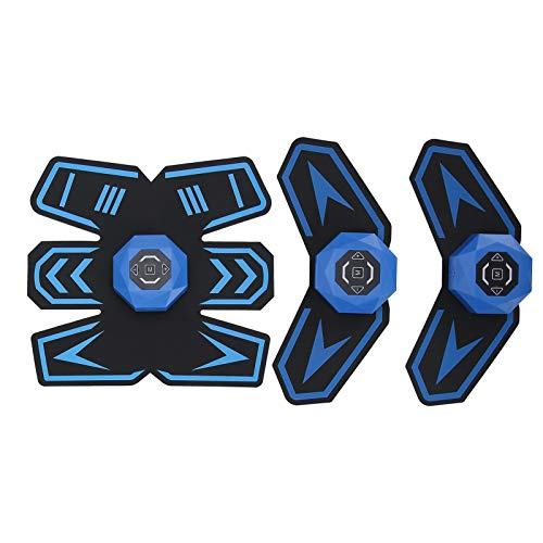 Estimulador de Abdominales, Dispositivo de Entrenamiento para Músculos, Usb Recargable Portátil Dispositivo de Gimnasio en Casa Entrenamiento de Los Músculos de Brazos y Piernas 6 Modos 10 Niveles