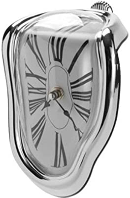 Simple Wall Clock with Individuality 90-Degree Twisted Wall Clock Roman Wall Clock Melted Clock