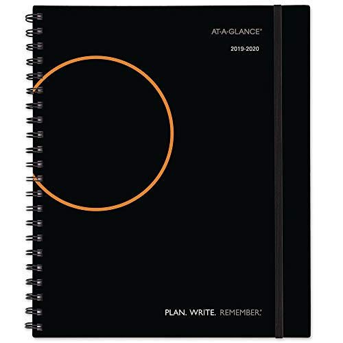 "AT-A-GLANCE 2019-2020 Academic Year Weekly & Monthly Planner / Appointment Book, Large, 8-3/4"" x 11"", Plan.Write.Remember., Black (70595705)"
