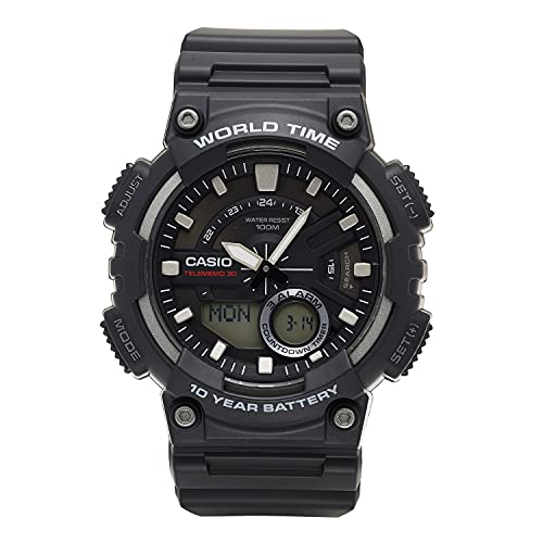 Reloj Casio Analógico World Time para Hombres 50mm