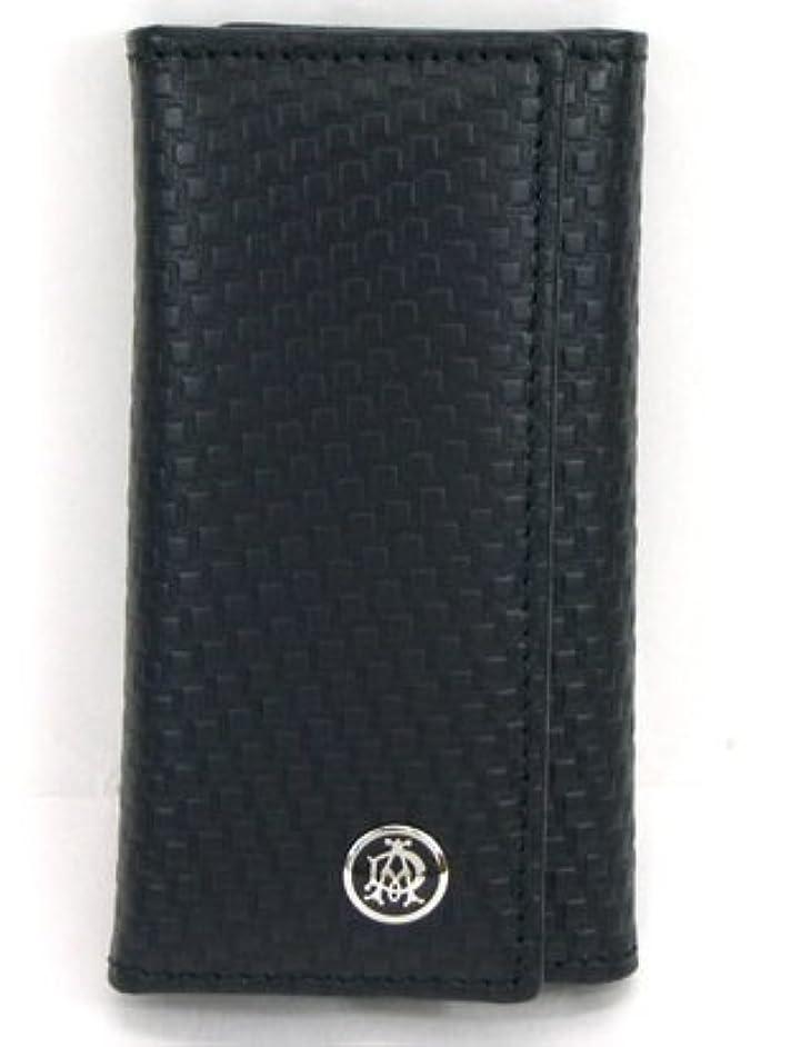 甥反対した旅客DUNHILL(ダンヒル) L2G350 ダンヒル財布 6連キーケース キーリング付 マイクロディーエイトライン レザー ブラック