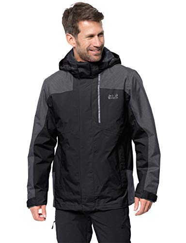 Jack Wolfskin Herren Viking Sky Men 3in1-jacke, Black, L