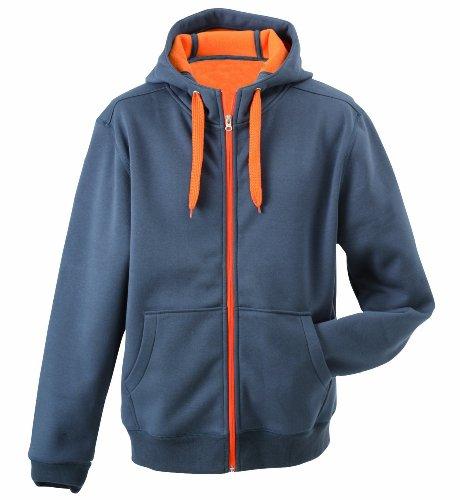 James & Nicholson, Giacca da donna, reversibile grigio/arancione XXL