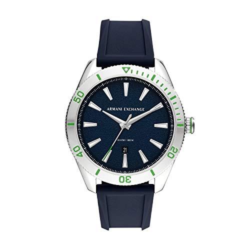Armani Exchange Reloj Analogico para Hombre de Cuarzo con Correa en Silicona AX1827