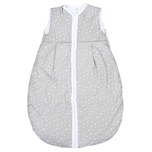 TupTam Baby Schlafsack Wattiert ohne Ärmel ANK001, Farbe: Sterne Grau 2, Größe: 62-74