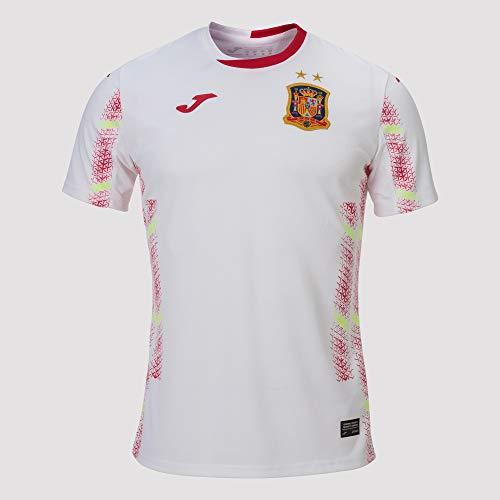 Joma España Fútbol Sala Segunda Equipación 2020, Camiseta, Blanco, Talla L