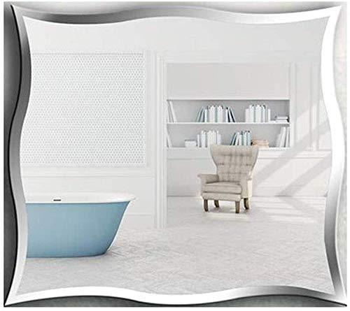HZWLF Kosmetikspiegel, japanischer rahmenloser Badezimmerspiegel Wandtoilette an der Wand