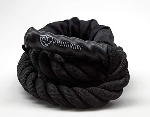 RhinoRope Battle Weighted Jump Rope (Rhino Rope) (50MM (Heaviest)) | Heavy Jump Rope for Men and Women