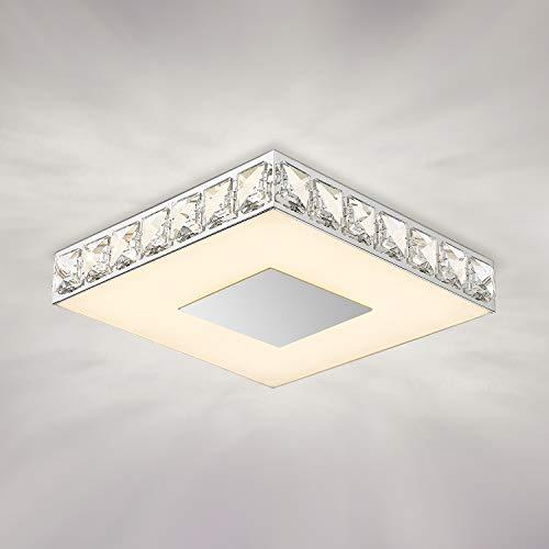 Crystal Flush Mount Ceiling Light, GALTLAP Modern LED Lighting Close to Ceiling Light Fixtures, 10.6