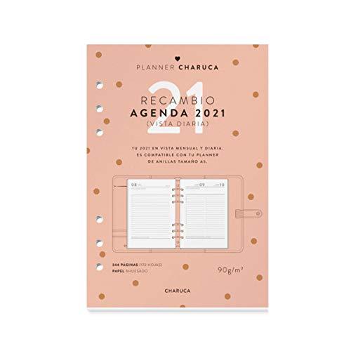 CHARUCA CAP05 Recambio agenda 2021, Vista diaria, A5