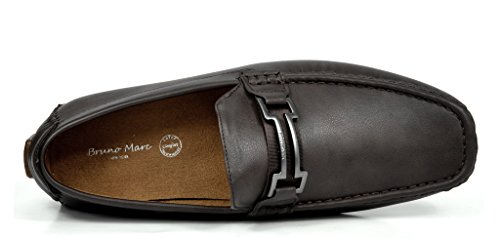 BRUNO MARC MODA ITALY HUGH-01 Men's Classy Fashion On The Go Driving Casual Loafers Boat shoes Coffee Size 9