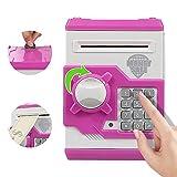 Elemusi Cartoon Electronic Password Mini ATM Piggy Bank Cash Coin Can Auto Scroll Paper Money Saving Box, for Children Kids
