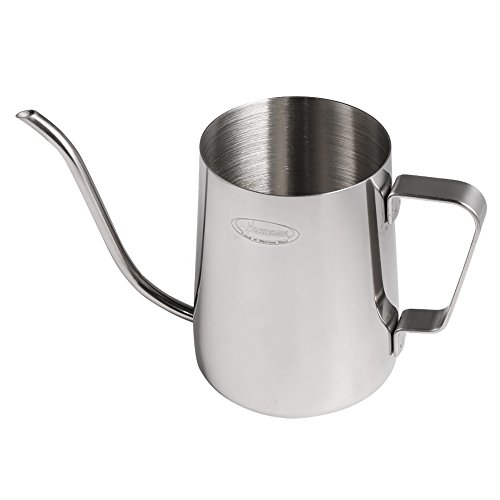 Long Narrow Spout Coffee Pot [Small] - Newness 304 Stainless Steel Hanging Ear Hand Blunt Pour Over Drip Pot for Coffee Maker, Hanging Ear Coffee Bag Lover, 1.37 Cup (11 Ounces, 330 Milliliter)