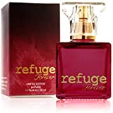CHARLOTTE RUSSE Refuge Forever Perfume Spray - Elegant Fruity Floral Fragrance for Evening Wear and Special Occasions - Jasmine, Mandarin, Vanilla, Woods - 1.7 oz / 50 ml