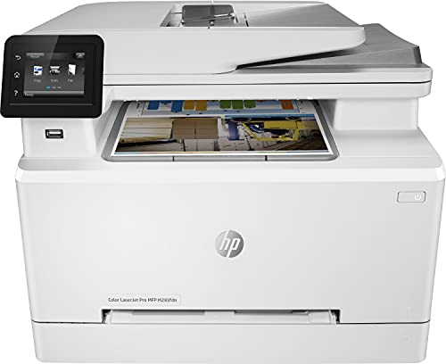 HP Color LaserJet Pro MFP M282nw 7KW72A, Impresora Láser Color Multifunción, Imprime, Escanea y Copia, Wi-Fi, Ethernet, USB2.0 alta velocidad, Host USB, HP Smart App, Pantalla Táctil en Color, Blanca