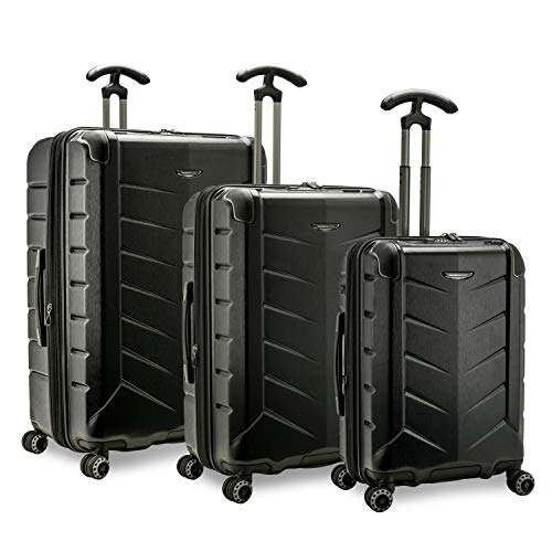 Traveler's Choice Silverwood II Hardside Expandable Spinner Luggage, Black - out of stock, 3-Piece Set
