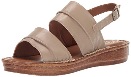 Bella Vita Women's JES-Italy Slingback Sandal Shoe, Taupe Italian Leather, 9 2W US