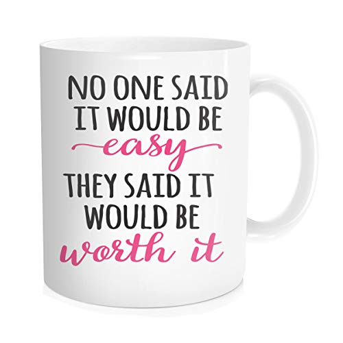Hasdon-hill Funny Water Mug With Time Marker Gifts, Water Tracker Work Out Achievement, Best Gifts Coffee Cup For Mom Dad Men Women Friends 11 Oz Bone China White