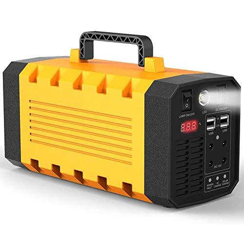 500 W Generador Solar Portátil, batería de Litio Recargable de 288 WH / 90000 mAh con Salidas duales de CA de 220 V, UPS eléctrico Solar para CPAP/Drone de Emergencia/Camping