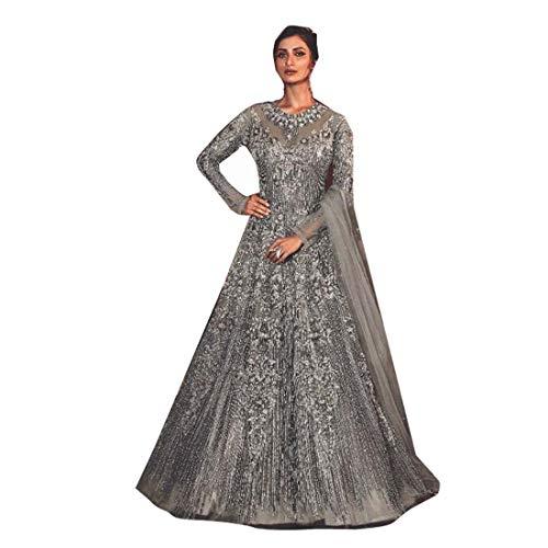 PINKKART El diseñador de las mujeres de la mariposa vestido de red suave de seda inferior Dupatta vestido de boda 5281 e