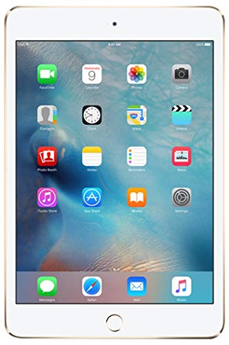 Apple iPad Mini 4 64GB Wi-Fi + Cellular - Gold - Unlocked (Renewed)