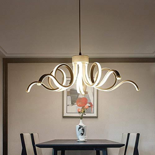 Liunce 65W LED Hanging Light Lamp Modern Pendant Light Lighting Novelty Lustre Light Fixture for Bedroom Living Room Luminaria Indoor Chandelier (Color : 6000K White Light) 3